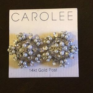 ❄️ Carolee Vintage  pearl and crystal earrings NWT